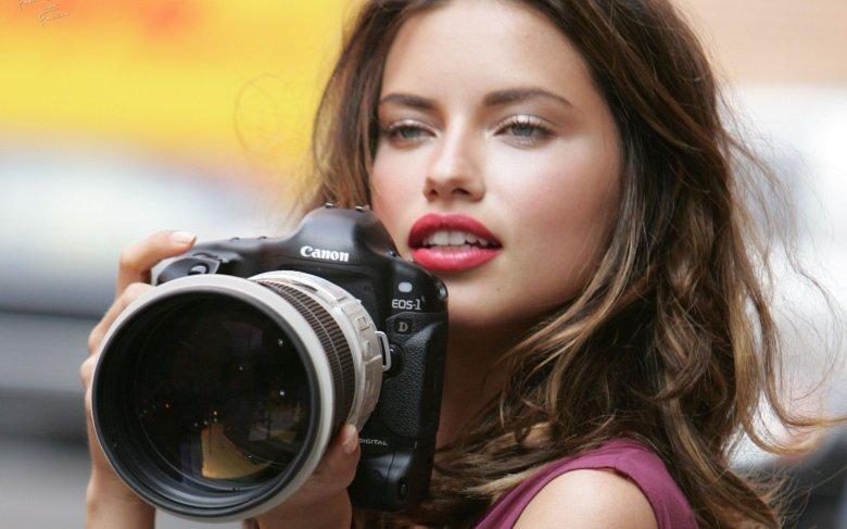 adriana-lima-women-cameras-canon-photography-lipstick-lips-lenses