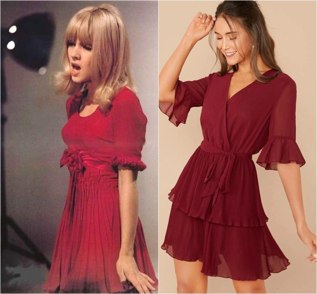 sylvie vartan red little dress