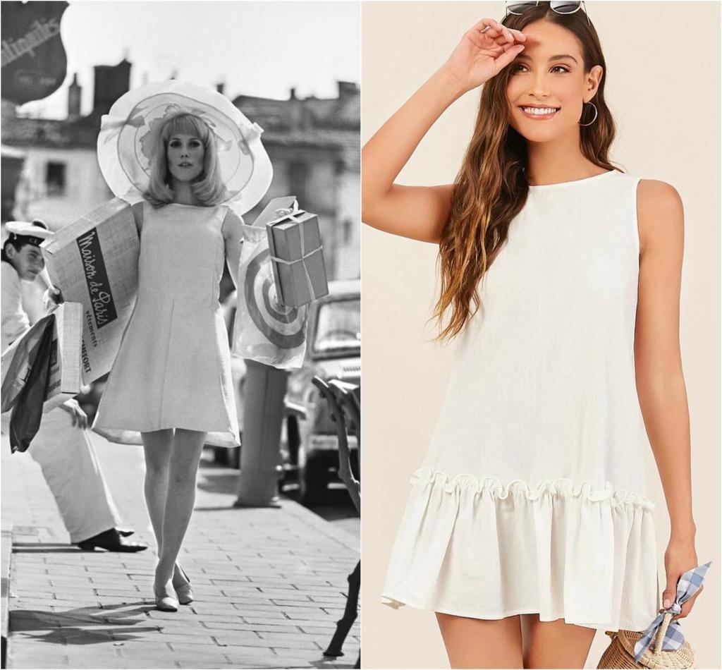 catherine deneuve white dress 60s
