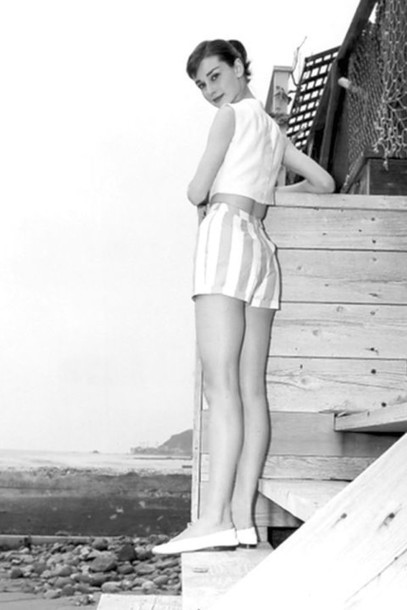audrey hepburn at the sea