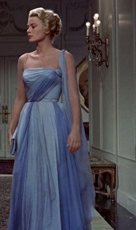 grace kelly blue dress