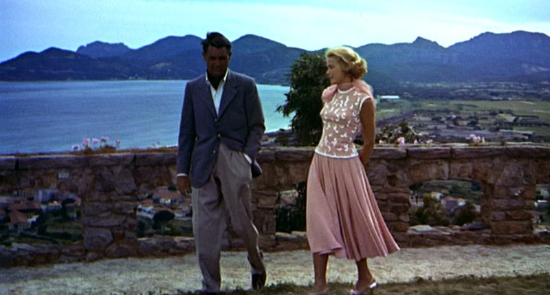 grace kelly to catch a thief pink dress