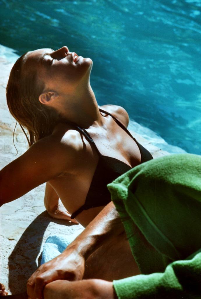 romy schneider sunbathing
